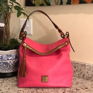 Dooney & Bourke hobo bubble gum color!